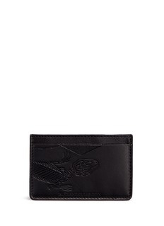 Alexander McQueen Lizard skeleton debossed leather card holder