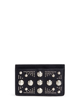 Main View - Click To Enlarge - Alexander McQueen - Union Jack stud leather cardholder