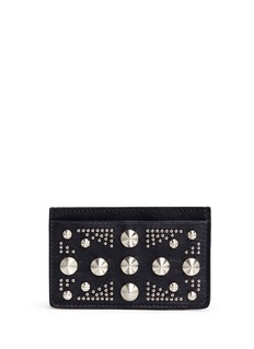 Alexander McQueen Union Jack stud leather cardholder