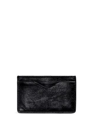 Alexander McQueen-Stud pixel skull leather cardholder