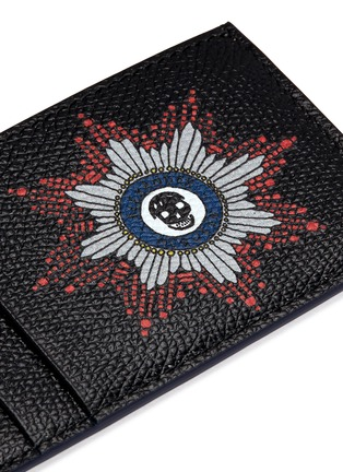 Detail View - Click To Enlarge - Alexander McQueen - Skull badge print leather cardholder