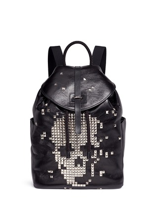 Main View - Click To Enlarge - Alexander McQueen - Pixel skull stud leather backpack