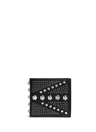 Main View - Click To Enlarge - Alexander McQueen - Union Jack stud leather bifold wallet