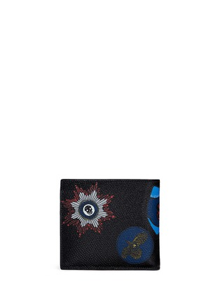 Back View - Click To Enlarge - Alexander McQueen - Skull badge print leather bifold wallet