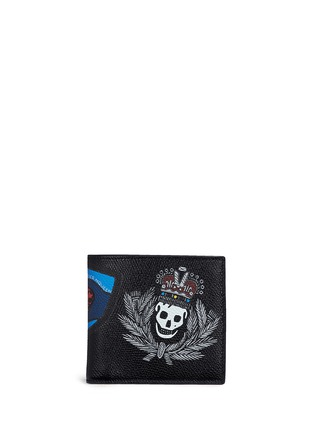 Main View - Click To Enlarge - Alexander McQueen - Skull badge print leather bifold wallet