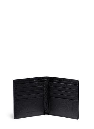Alexander McQueen-Skull badge print leather bifold wallet
