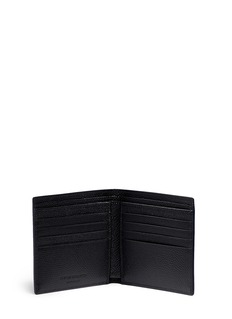 Alexander McQueen Skull badge print leather bifold wallet
