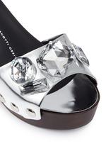'Gladis' jewelled mirror leather clog sandals