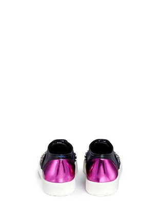 Back View - Click To Enlarge - Giuseppe Zanotti Design - 'May London' spike stud leather flatform sneakers