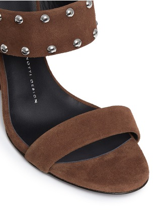 Detail View - Click To Enlarge - Giuseppe Zanotti Design - 'Taline' stud suede wedge sandals