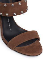 'Taline' stud suede wedge sandals
