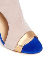 'Caitie' colourblock mirror band suede sandals