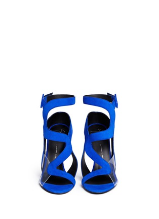 Front View - Click To Enlarge - Giuseppe Zanotti Design - 'Summer' cutout suede sandals