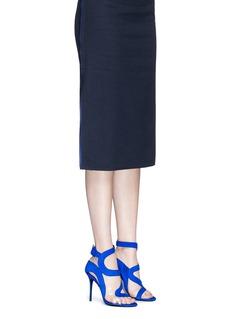 GIUSEPPE ZANOTTI DESIGN'Summer' cutout suede sandals