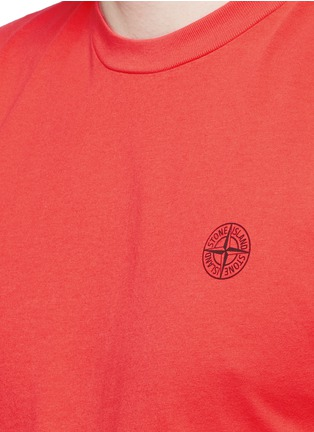 Detail View - Click To Enlarge - Stone Island - Logo print cotton T-shirt