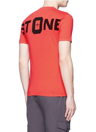 Back View - Click To Enlarge - Stone Island - Logo print cotton T-shirt