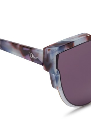 Detail View - Click To Enlarge - Dior - 'Wildly' inset metal frame tortoiseshell acetate sunglasses