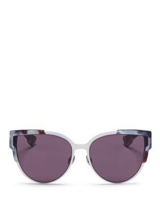 Main View - Click To Enlarge - Dior - 'Wildly' inset metal frame tortoiseshell acetate sunglasses