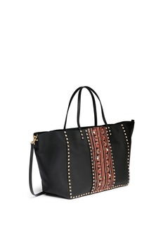 VALENTINO'Rockstud Rolling' large tribal print leather tote
