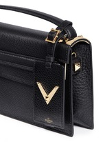 'My Rockstud' pebbled leather clutch