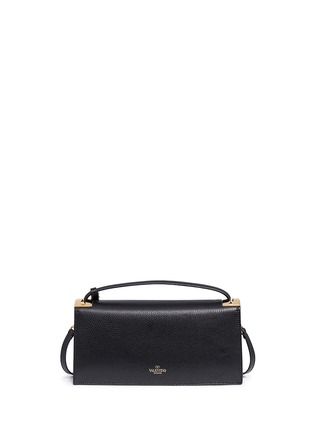 Back View - Click To Enlarge - Valentino - 'My Rockstud' pebbled leather clutch