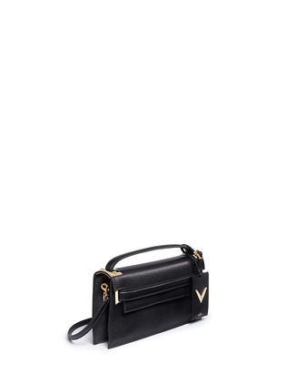 Figure View - Click To Enlarge - Valentino - 'My Rockstud' pebbled leather clutch