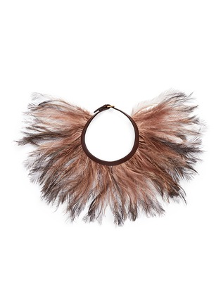 Main View - Click To Enlarge - Valentino - Feather choker necklace