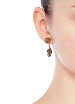 Figure View - Click To Enlarge - Valentino - Tribal mask earrings