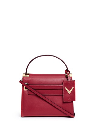 Main View - Click To Enlarge - Valentino - 'My Rockstud' small top handle leather bag