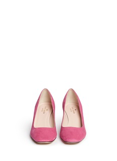 KATE SPADE'Danika Too' jewel heel suede pumps