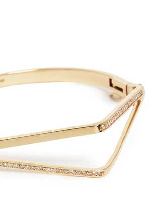 - Michelle Campbell - Diamond pavé 14k yellow gold cuff