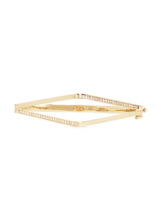Main View - Click To Enlarge - Michelle Campbell - Diamond pavé 14k yellow gold cuff