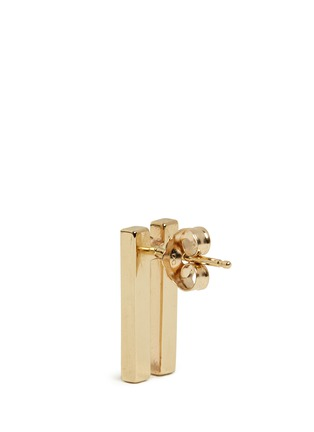 Detail View - Click To Enlarge - Michelle Campbell - Flame' diamond pavé 14k gold earrings