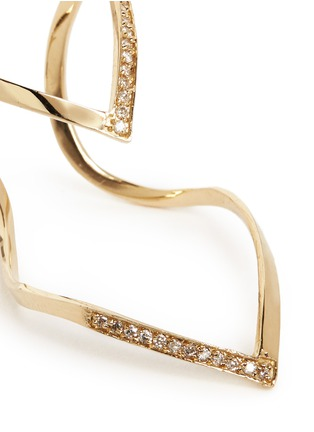 Detail View - Click To Enlarge - Michelle Campbell - Skinny V' diamond 14k yellow gold ring