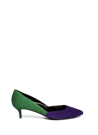 Main View - Click To Enlarge - Pierre Hardy - Colourblock suede pumps