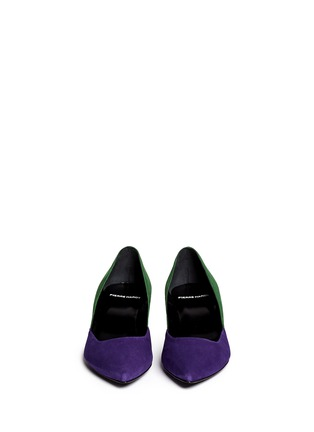 Figure View - Click To Enlarge - Pierre Hardy - Colourblock suede pumps