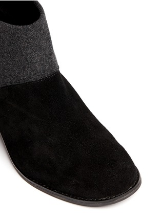 Detail View - Click To Enlarge -  - 'Leila' wool felt suede combo ankle boots