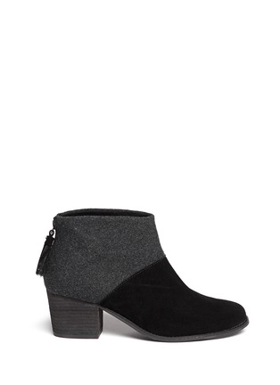Main View - Click To Enlarge -  - 'Leila' wool felt suede combo ankle boots