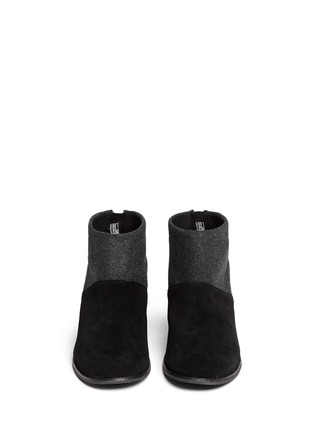 Figure View - Click To Enlarge -  - 'Leila' wool felt suede combo ankle boots