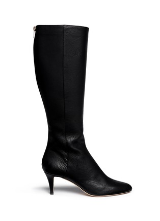 Main View - Click To Enlarge - Jimmy Choo - 'Gem' grainy leather zip boots