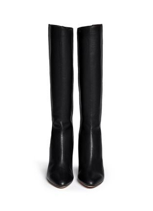 Figure View - Click To Enlarge - Jimmy Choo - 'Gem' grainy leather zip boots