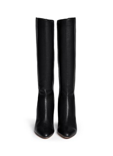 JIMMY CHOO 'Gem' grainy leather zip boots