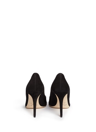 Back View - Click To Enlarge - Jimmy Choo - 'Vesna 100' metal twist knot suede pumps