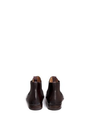 MAGNANNI-擦色真皮切尔西短靴