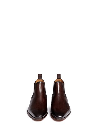 模特儿示范图 - 点击放大 - MAGNANNI - 擦色真皮切尔西短靴