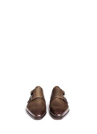 模特儿示范图 - 点击放大 - MAGNANNI - MATOGRO真皮僧侣鞋