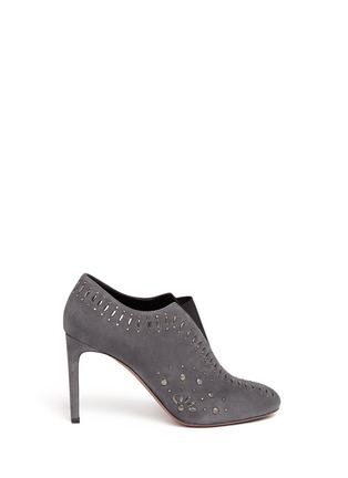 Main View - Click To Enlarge - Alaïa - Stud suede booties