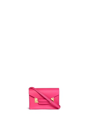 Main View - Click To Enlarge - Sophie Hulme - 'Nano' leather envelope crossbody bag