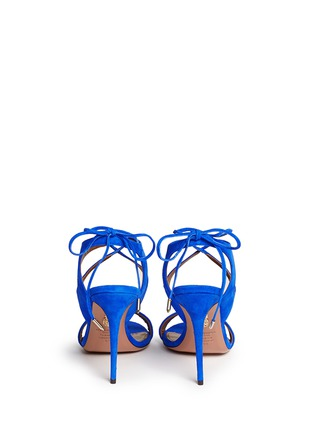 Back View - Click To Enlarge - Aquazzura - 'Colette' lace-up sandals