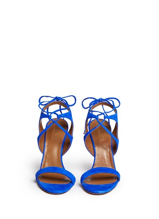 Figure View - Click To Enlarge - Aquazzura - 'Colette' lace-up sandals
